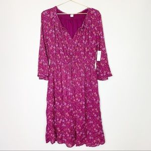 Old Navy NWT Pink Floral Dress Size Medium